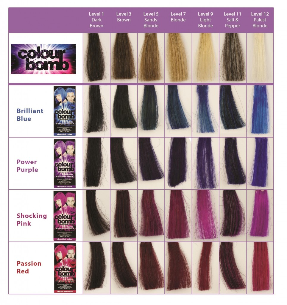 Colour Bomb Hair Colour Chart from i-glamour