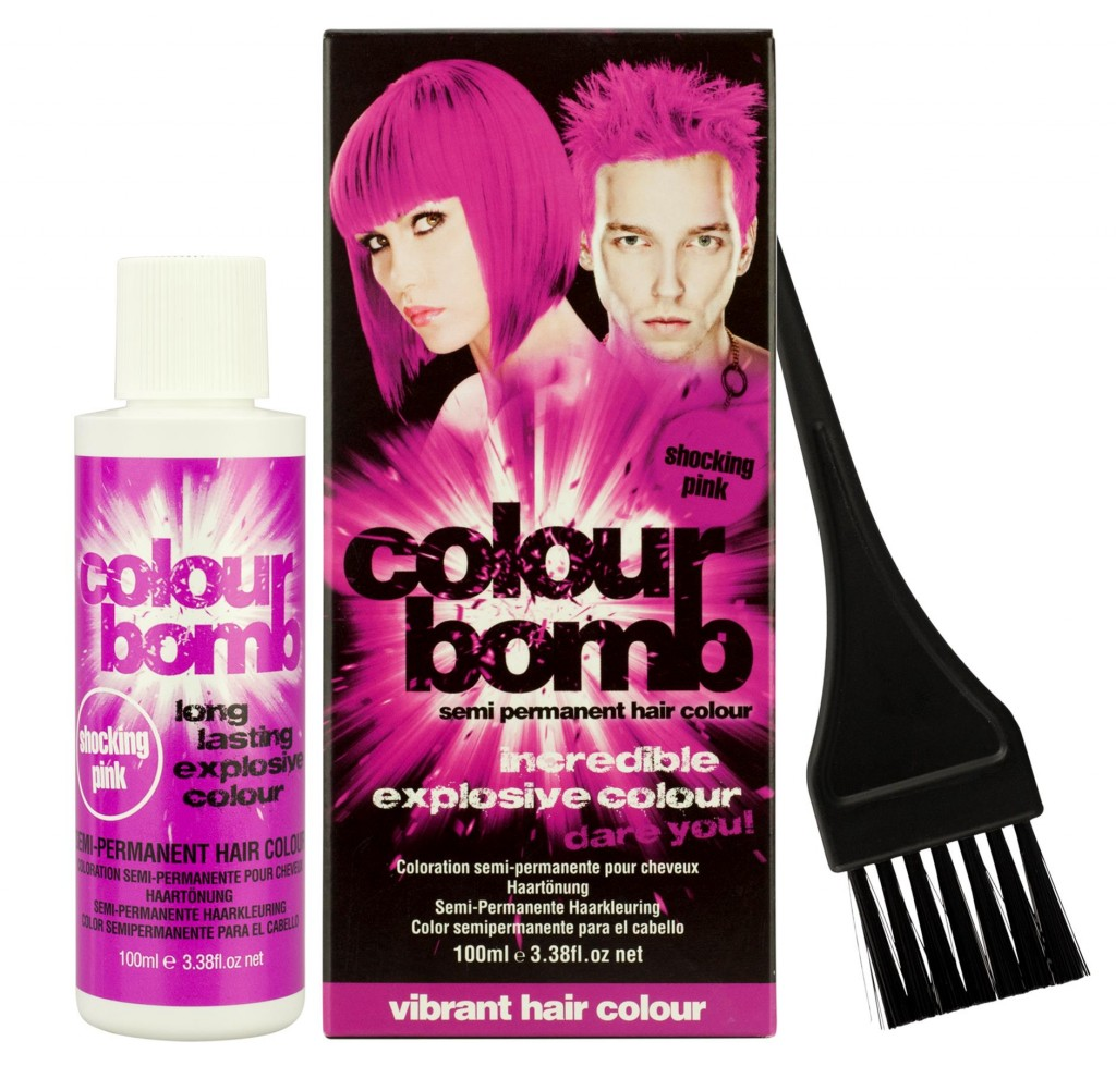 Colour Bomb Semi Permanent Hair Colour in Shocking Pink