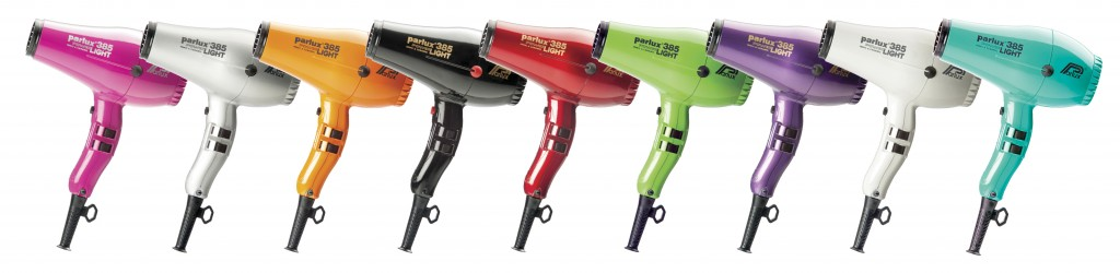Parlux 385 Hair Dryer in nine colours