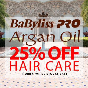he entire Argan Oil by BaByliss PRO range is 25% off