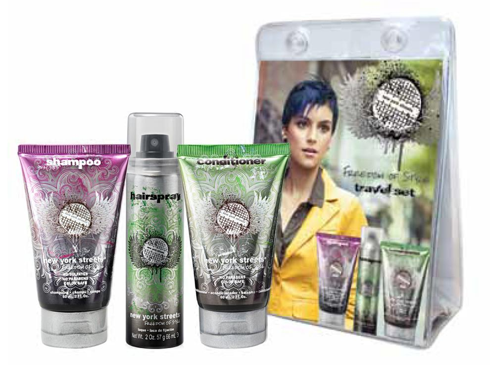 New York Streets Hair Care Travel Set