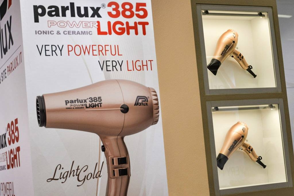 Parlux 385 Power Light Hair Dryer in Light Gold