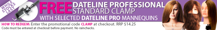Dateline Professional Mannequin Promotion - Free Standard Clamp