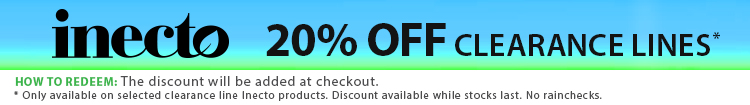 Inecto Clearance Lines Promotion - 20% off